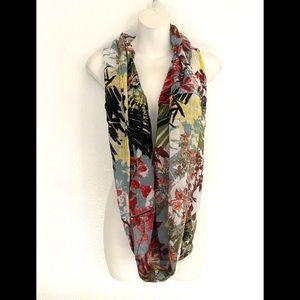 J.jill woman's floral wrap scarf